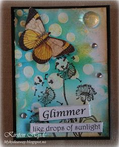 """** """"Glimmer"""" Butterfly ATC  Artist Trading Card @myhydeaway"""