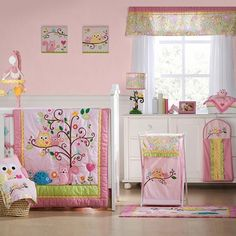KidsLine Dena Happi Tree 8 Piece Crib Bedding Set (nursery ideas)