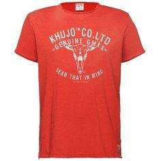 Schönes #Shirt in #Rot von Khujo. Dieses Shirt ist ein echter Hingucker und überzeugt dank des coolen #Prints. - ab 29,95 €