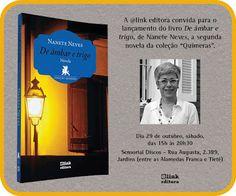 """29/10 ♥ Lançamento do livro """"De âmbar e trigo"""" de Nanete Neves ♥ SP ♥  http://paulabarrozo.blogspot.com.br/2016/10/2910-lancamento-do-livro-de-ambar-e.html"""
