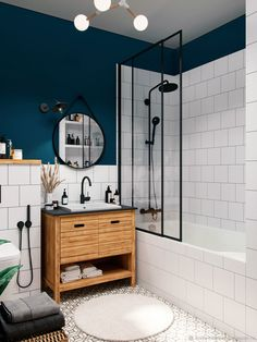 Modern Bathroom Decor, Bathroom Trends, Bathroom Interior Design, Small Bathroom, Home Living, House Rooms, Bathroom Inspiration, Home Design, New Homes