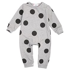 Baby Girl Boy Kids Clothes Long Sleeve Rompers Playsuit Onesies 612 Months ** Want additional info? Click on the image. (This is an affiliate link) #BabyBoyFootiesandRompers