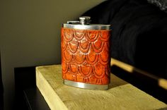 For Matt-This is gorgeous. Handmade Tooled Leather Flask Cover  Saddle by leatherandcopper