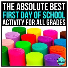 Why Teachers NEED Playdough on the First Day of School Clutter-Free Classroom has FREE tips & ideas to help teachers improve classroom organization & management. As a National Board Certified teacher, curriculum developer and. First Day Of School Activities, 1st Day Of School, Beginning Of The School Year, School Fun, Back To School Ideas For Teachers, Back To School Art, Get To Know You Activities, Back To School Night, Primary School