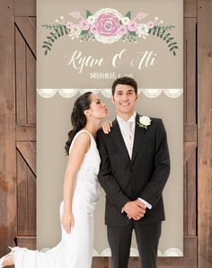"""<p>This rustic photo backdrop comes as a 4'x7' (48"""" x 85"""") personalized custom wedding backdrop banner. Perfect background for a DIY photo booth, or backdrop for behind the sweet heart table. </p> See more here: <a href=""""https://www.etsy.com/listing/194281998/rustic-wedding-backdrop-lace-and-burlap?ref=shop_home_active_13"""" target=""""_blank"""">https://www.etsy.com/listing/194281998/rustic-wedding-backdrop-lace-and-burlap?ref=shop_home_active_13</a>"""