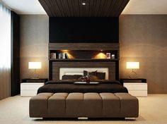 Modern Master Bedroom Interior Design - Very crisp, clean, minimal but not boring