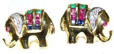 Diamond 14K Yellow Gold Multi Gemstone Elephant Earrings ... https://www.amazon.com/dp/B00CKIDHDW/ref=cm_sw_r_pi_dp_5x0Fxb6ZBZ3PH