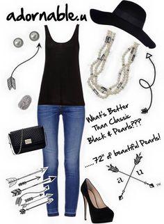 adornable.u black & pearls adornable.u #getadornedwithme au.sarah.stylecoach@gmail.com