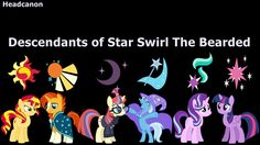 I do not think that his descendants, but...their magic...their cutie marks....umm Twilight and Starlight have so much power...especially Twilight and Sunburst looks like Star Swirl