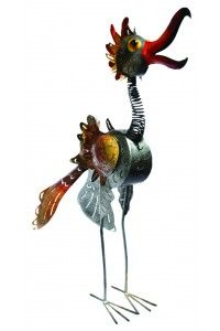 """""""CRAZY BIRD"""" SILVER 3 FEET TALL! Iron candle holder bird is handmade in Bali. Almost all of our decorations can be lit with tea candles or strings of LED lights and work their magic to create a cheerful flair on terraces, in gardens and homes. BUY NOW! $159.99 #ChristmasGift #GiftForDad #GiftIdeas #OneofaKind #Christmas2015 #Xmas #GiftForMom #GardenIdea"""