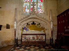 The Victorian tomb of Tudor Queen Katherine Parr, sixth wife of King Henry VIII, later wife of Thomas Seymour & chatelaine of Sudeley Castle