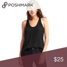 GAP Crotchet Lace Tank Top New with tags. Perfect for dressing up or down GAP Tops Tank Tops