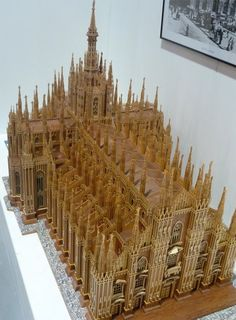 The Milan cathedral, scroll saw fretwork pattern wooden model i cannot imagine trying to make this....