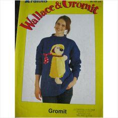 "Patons knitting pattern E2334 Gromit jumper chest 34"" - 42"" 5013712322013 on eBid United Kingdom"
