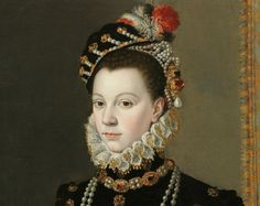 Elisabeth of Valois – by Juan Pantoja de La Cruz, circa 1605 - Elisabeth of Valois was a Spanish queen consort. The eldest daughter of Henry II of France and Catherine de' Medici, she married Philip II of Spain as his third wife. Victorian Portraits, Renaissance Portraits, Renaissance Paintings, Renaissance Art, Renaissance Fashion, Elizabethan Era, Portraits From Photos, Historical Costume, 16th Century