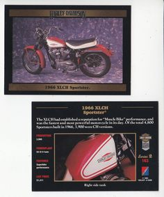 The card is from the Harley-Davidson Series 2 set from Collect-A-Card Corporation, 1992. The card back is in ENGLISH and includes great facts and specifications for this bike and includes a 2nd (different) full-color picture on the card back. | eBay!