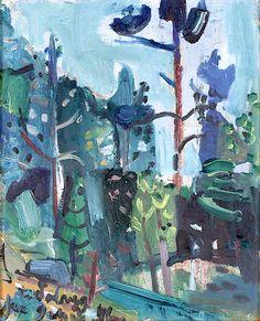 "huariqueje: "" Landscape - Jakob Weidemann , 1946 Oil on panel, 41 x 33 cm. Nordic Art, Scandinavian Art, Color Effect, Henri Matisse, Artsy Fartsy, Norway, Sculptures, Graphic Design, Exhibitions"