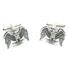 Silver American Eagle Cufflinks