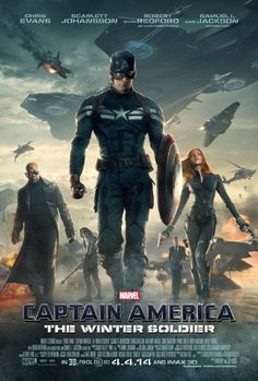 Captain America: The Winter Soldier April 2014 with Chris Evans, Frank Grillo, Sebastian Stan. Steve Rogers struggles to embrace his role in the modern world and battles a new threat from old history: the Soviet agent known as the Winter Soldier. Captain America 2, Steve Rogers, Chris Evans, Robert Evans, The Avengers, Anthony Russo, Joe Russo, Winter Soldier Movie, Iron Man