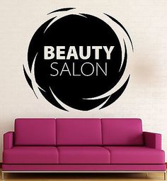 Beauty Salon Wall Stickers Hair Spa Woman Salon Logo Barber Vinyl Decal (ig2453)