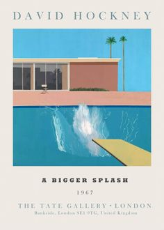 Wall Prints, Poster Prints, Architecture Concept Drawings, Tate Gallery, David Hockney, Exhibition Poster, Design Art, Cover Design, Graphic Design