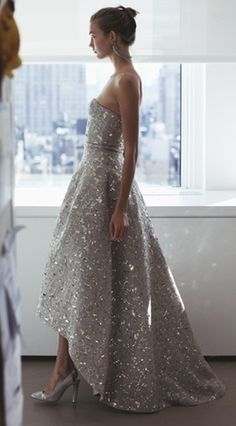 Grey Sweetheart Sleeveless Party dress with sequins , Fashion  High Low Prom Dress with Sequins