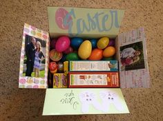 Easter basket care package for army boyfriend crafts pinterest easter carepackage army deployment negle Images