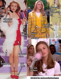 Clueless Outfit Ideas outfits from the movie clueless costume playbook Clueless Outfit Ideas. Here is Clueless Outfit Ideas for you. Clueless Outfit Ideas cher horowitz clueless diy costume idea in 2019 clueless. Cher Clueless Costume, Clueless Outfits, Clueless Fashion, 90s Fashion, Clueless Quotes, Cher Costume, Cher From Clueless, 90s Party Costume, Clueless Style