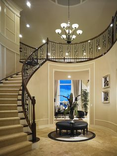 Having company? Make a grand entrance down this exquisite stairway from Jupiter Country Club, Treanna Monogram Collections in Jupiter, Fla.