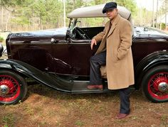 Mr. LaBeouf, with his character's 1932 Ford V-8. Loved the vehicles used in lawless.