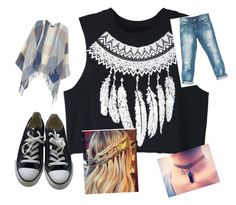 """""""Bez naslova #4"""" by andrejagoriki ❤ liked on Polyvore featuring WithChic, Dorothy Perkins, Converse and Sans Souci"""