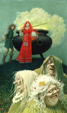 Comics illustration, Napoleon Gallery : miscellaneous - Original cover for The Prydain Chronicles issue 2 The black Cauldron de Lloyd Alexand er byJean-Léon HUENS - Cover