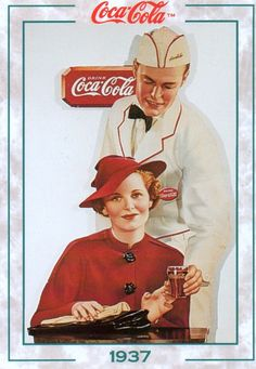 Coca-Cola *  Coke at Soda Fountain  (1937)  #111 1994 | by Jimmy Tyler