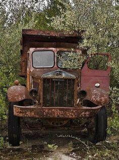 Mine truck, dump box.