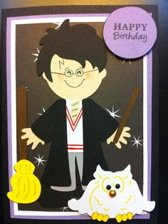 Harry Potter BD Card made with Cricut Paper Doll Dress Up.