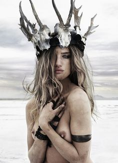 Alluring beauty Rosie Huntington-Whitely takes on ten very different personas in each photograph.