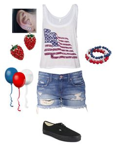 """Happy Fourth of July!"" by xxx5saucexxx ❤ liked on Polyvore featuring Vans and Croft & Barrow"