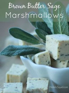 Homemade Brown Butter Sage Marshmallows (The Perfect Topper for Sweet Potato Casserole!) - Holistic Squid