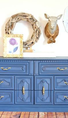 A Dresser in Navy Paint - Painted Furniture - Refunk My Junk