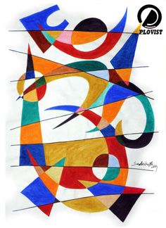 Abstract Om by Sudhir Chalke For more artworks from the artist checkout his #plovist profile: http://www.plovist.com/pins/user/sudhir.chalke.73