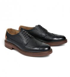 NEW Haddow Leather Brogue Shoe by Hudson | $248 | Traditional in design, Haddow is a sophisticated brogue for formal or casual attire. Finished in a rugged grain upper this brogue should be considered a luxury. With a full leather lining and solid sole unit, Haddow will last and last. The final finishing touch is a matching leather heel piece. | GOTSTYLE.CA