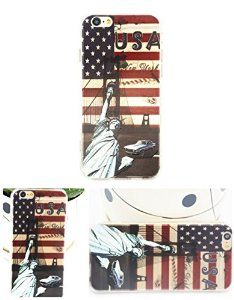 For iPhone 6 case with USA Flag print, iPhone 6 TPU soft case for girls, iPhone 6 4.7'' back soft cover