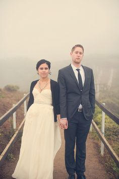 fog in the background of wedding pictures would only be a blessing - i love these pictures!