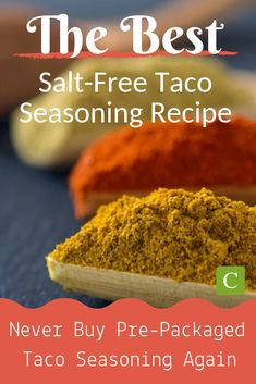 Ever wonder how to make your own no salt taco seasoning? This homemade salt free taco seasoning recipe is simple, and absolutely delicious. Salt Free Taco Seasoning Recipe, Low Carb Taco Seasoning, No Sodium Foods, Low Sodium Recipes, Low Sodium Meals, Low Sodium Diet, Homemade Spices, Homemade Taco Seasoning, Seasoning Mixes