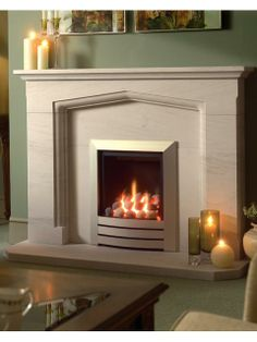 Leon, Gas Fire, Pebble Fuel Bed