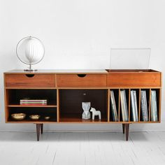 Vintage Teak Record Cabinet