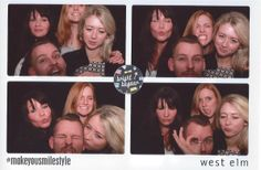 A photo booth snap of the team at the Bright Bazaar book launch at the West Elm store!