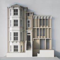 Extension and reconfiguration of a substantial semi-detached Victorian house in south London Maquette Architecture, Architecture Model Making, Chinese Architecture, Modern Architecture House, Futuristic Architecture, Facade Architecture, British Architecture, Architecture Awards, Victorian Architecture