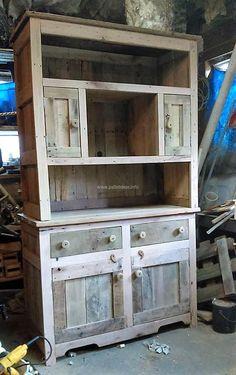 pallet storage cabinet idea