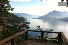 view on Bellano and  south lake view from Verginate village